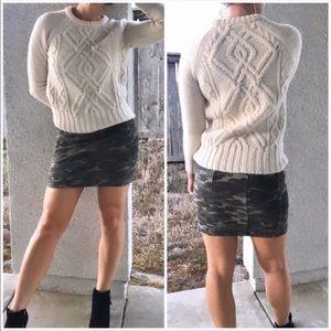 Free People camo mini skirt